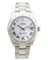 Rolex Reloj en acero plateado Datejust 31mm - Multicolor