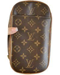 Louis Vuitton Borsa in tela marrone Gange