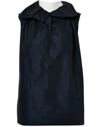 Lanvin - Black Polyester Top - Lyst