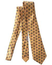 Hermès Silk Tie - Yellow