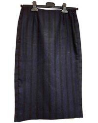 Maje Wool Skirt Suit - Blue
