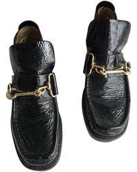 Acne Studios Patent Leather Flats - Black