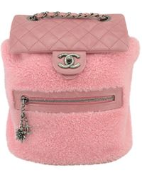 Chanel - Shearling Backpack - Lyst