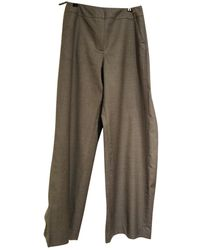 Chanel Vintage Grey Wool Trousers