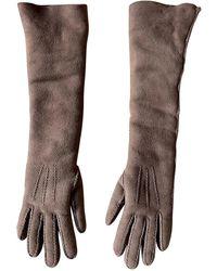 Bottega Veneta Long Gloves - Brown