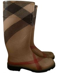 Burberry Wellington Boots - Natural