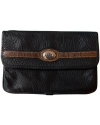 Dior Black Leather Purses Wallets & Cases