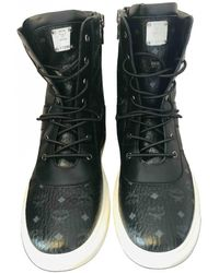 MCM Leather Boots - Black