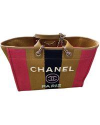 Chanel Deauville Leinen Shopper - Mehrfarbig