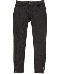 Sandro - Anthracite Cotton Trousers - Lyst