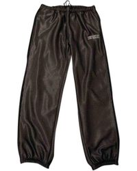 Supreme Black Polyester Trousers