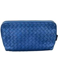 Bottega Veneta Leather Vanity Case - Blue