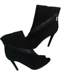 Dior Botines en ante negro