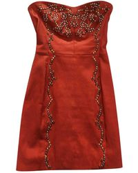Isabel Marant - Red Leather Dress - Lyst