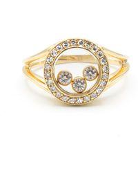 Chopard Anello in oro giallo dorato Happy Diamonds - Metallizzato