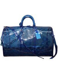 Louis Vuitton Bolsos en plástico azul Keepall