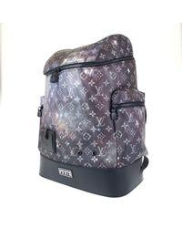 Louis Vuitton Alpha Backpack Blue Cloth Bag