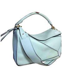 Loewe Puzzle Leder Handtaschen - Blau