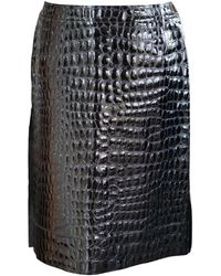 Marni Patent Leather Mid-length Skirt - Black