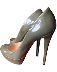 Christian Louboutin Bianca Patent Leather Heels - Grey