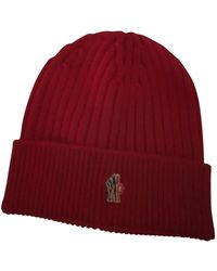 Moncler Cappelli in lana rosso