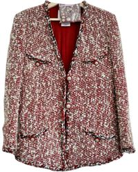 Chanel Tweed Blazer - Rot