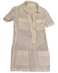 Equipment Mini robe en lin - Blanc