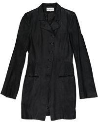 Ann Demeulemeester - Black Suede Coat - Lyst