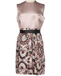 Dior Robe en Soie Rose - Multicolore