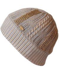 Chanel Sombrero en viscosa beige - Multicolor