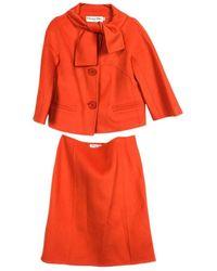 Dior Kaschmir Kostüm - Orange