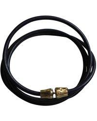 Longchamp Leather Necklace - Black