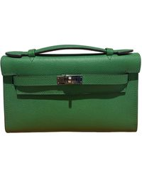 Hermès Kelly Clutch Leder Clutches - Grün