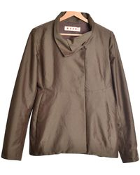 Marni - Brown Polyester Jacket - Lyst