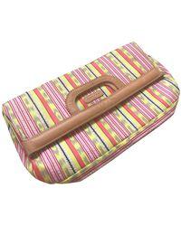 Carven Cloth Clutch Bag - Pink