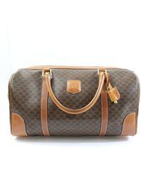 Celine Cloth Travel Bag - Brown