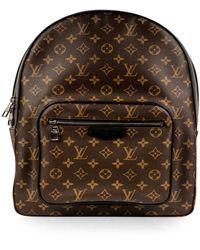 Louis Vuitton Borsa in tela marrone Josh Backpack