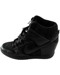 Nike Dunk Sky Leinen Sneakers - Schwarz