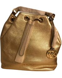 Michael Kors Jules Gold Leather Handbag - Multicolor