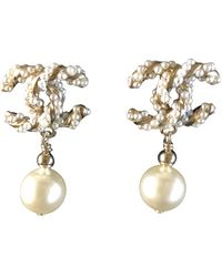 Chanel Cc Earring - Metallic