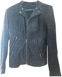 BLK DNM Leather Biker Jacket - Black