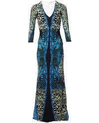 Roberto Cavalli Maxi Dress - Blue