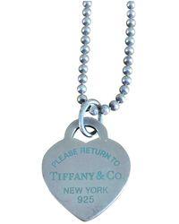 Tiffany & Co. Collana lunghe in argento argentato Return to Tiffany - Blu