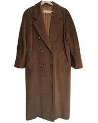 Max Mara 101801 Wool Coat - Natural