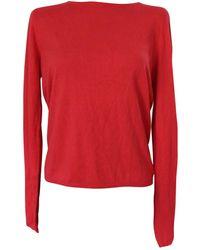 Maje Jersey en seda rojo