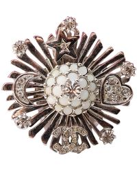 Chanel Cc Silver Metal Ring - Metallic