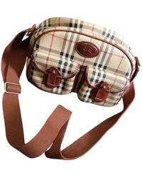 Burberry Leinen Handtaschen - Natur