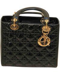 Dior Borsa Lady in Vernice - Nero