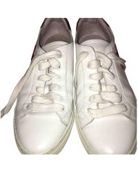 Claudie Pierlot Leather Sneakers - White