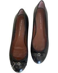 Marc By Marc Jacobs Patent Leather Ballet Flats - Black